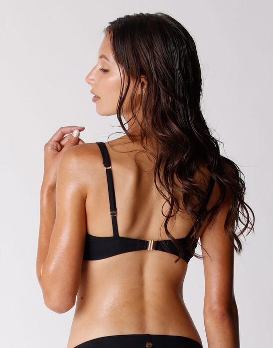 Haut de maillot de bain pour Femme en microfibre recyclée noire, , DIM