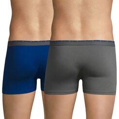 Lot de 2 boxers bleu et gris foncé Ultimate-DIM