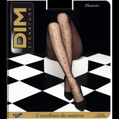 Collant DIM SIGNATURE noir Plumetis 12D, , DIM
