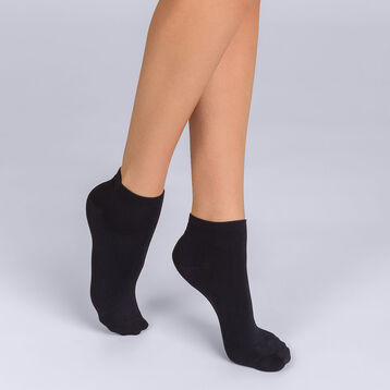 Socquettes courtes (3+1 gratuit) noires Femme Coton Skin-DIM