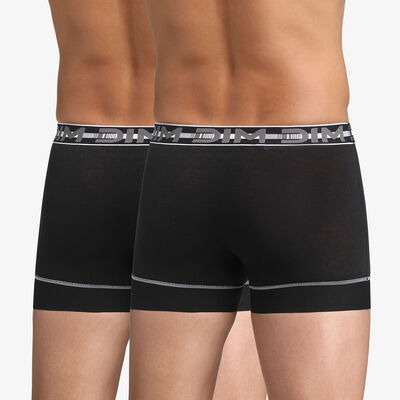 Lot de 2 boxers noirs 3D Stay & Fit, , DIM