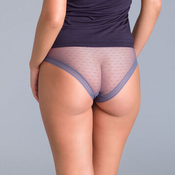 Lot de 2 Shortys gris Sexy Transparency-DIM