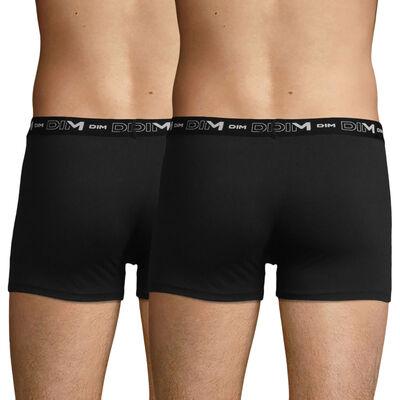 Lot de 2 boxers noirs pour homme Coton Stretch, , DIM