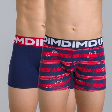 Lot de 2 boxers rouge rubis DIM Boy-DIM