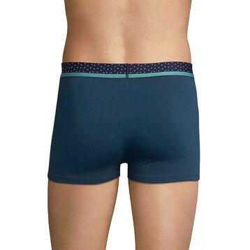 Boxer homme bleu coton ceinture à pois - DIM Mix & Dots, , DIM