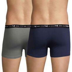 Lot de 2 boxers gris ardoise et bleu nuit DIM Coton Stretch-DIM
