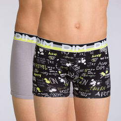 Lot de 2 boxers absinthe graphique Eco Dim DIM BOY, , DIM