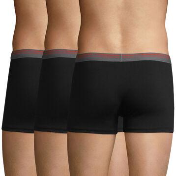 Lot de 3 boxers coton stretch Noir pour homme Daily Colors, , DIM