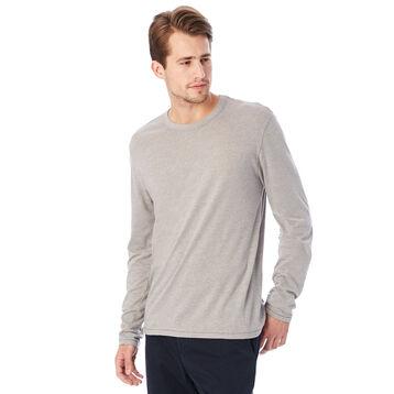 T-shirt gris clair à manches longues Homme-DIM
