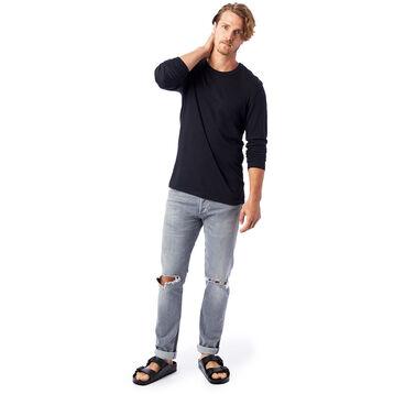 T-shirt noir à manches longues Homme-DIM