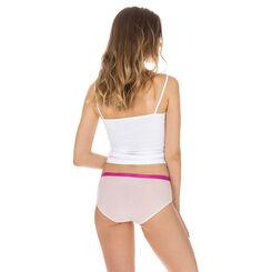 Lot de 3 boxers rose rayures et pois en coton Les Pockets-DIM