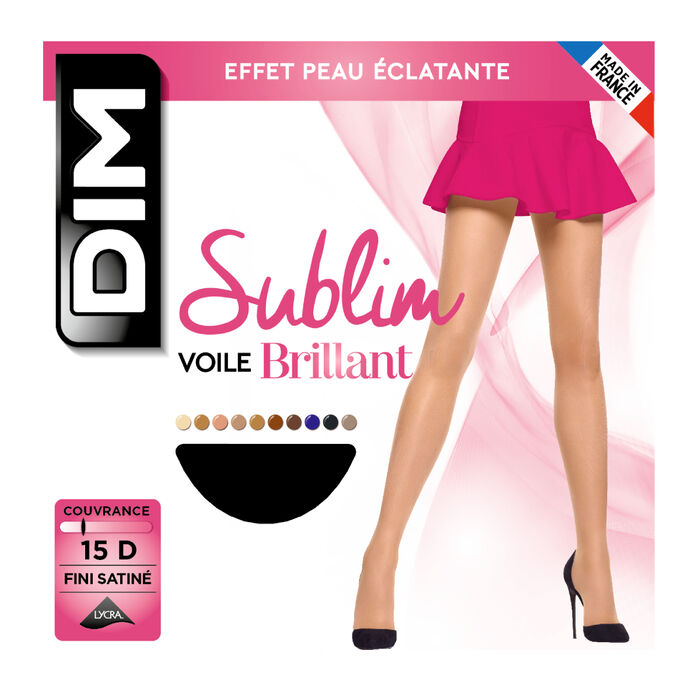 Collant noir Sublim Voile Brillant 15D, , DIM