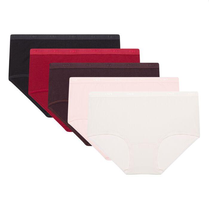 Lot de 5 boxers en coton stretch Les Pockets EcoDim, , DIM