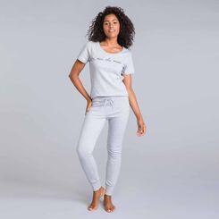 Tee-shirt manches courtes gris chiné Essential-DIM
