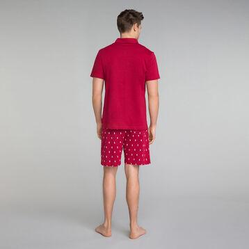 Polo pyjama rouge détail poche - Mix and Match , , DIM