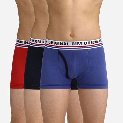 Boxers bleu, noir et rouge pour garçon Dim Original, , DIM