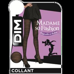 Collant noir zèbre Madame So Fashion 30D-DIM