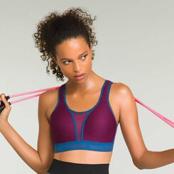 Soutien-gorge sport Run Padded Bra cranberry Shock Absorber, , DIM