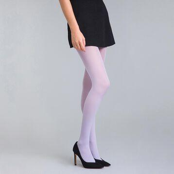 Collant opaque velouté lilas  50D Style-DIM