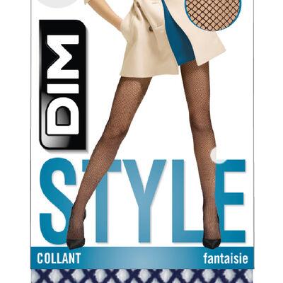 Collant résille bleu marine Style, , DIM