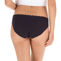 Lot de 2 slips noir et blanc en coton Body Touch-DIM