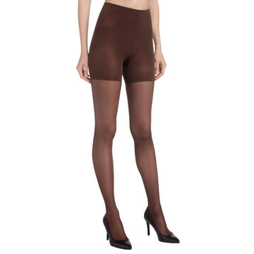 Collant chocolat Diam's Contour 360° semi-opaque 25D, , DIM