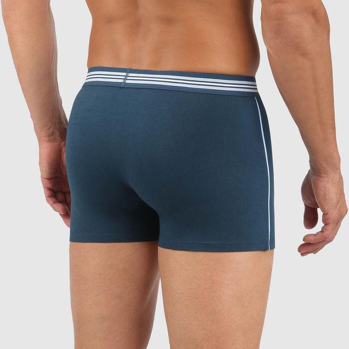 Boxer homme en coton stretch Bleu Paon Smart Boxer, , DIM