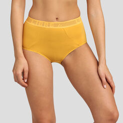 Culotte taille haute jaune or Des Hauts et Des Bas de Dim, , DIM