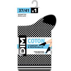 Socquettes noires Coton Style effet de maillage Femme-DIM
