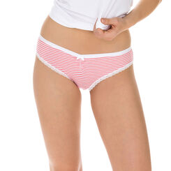 Lot de 2 slips rose et blanc Les Pockets Coton Fantaisie-DIM