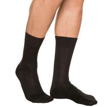 Chaussettes noires pour Homme en Fil d'Ecosse, , DIM