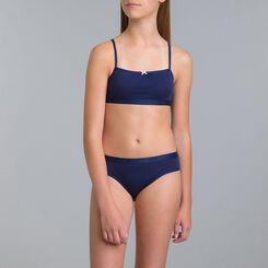Lot de 4 culottes (3+1 gratuit) bleu matelot DIM Girl-DIM