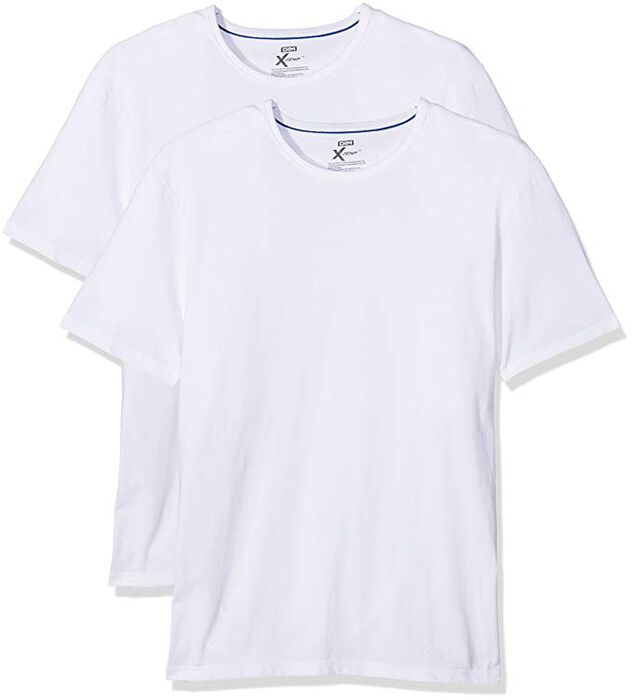 Lot de 2 T-shirts col rond X-Temp blancs, , DIM