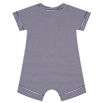 Barboteuse bébé zippée Rayé Gris foncé et blanc DIM Baby, , DIM