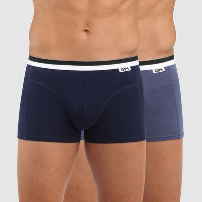 Lot de 2 boxers bleus Coton seamless, , DIM