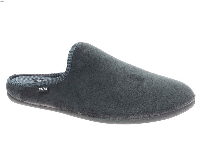Pantoufles gris foncé Homme intérieur imprimé-DIM