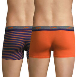 Lot de 2 boxers orange et rayures oranges Original Spirit-DIM