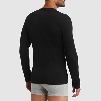 T-shirt hommes manches longues thermorégulateur Noir Dim Thermal, , DIM