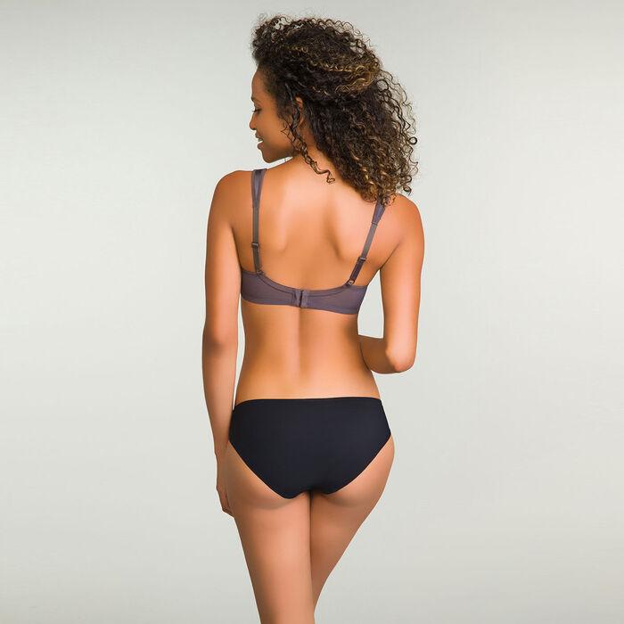 Tanga Brésilien Noir en dentelle pour femme Daily Glam Trendy Sexy, , DIM