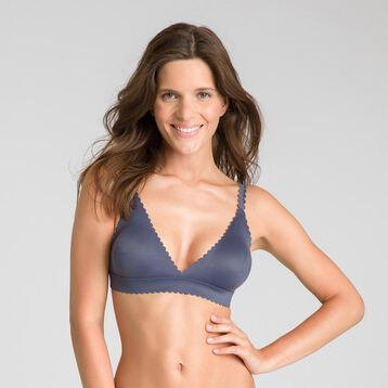 Soutien-gorge triangle gris granite Body Touch-DIM
