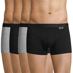 Lot de 4 boxers noirs et gris ECODIM Coton-DIM