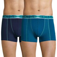 Lot de 2 boxers bleu océanique et bleu marin 3D Flex Air-DIM