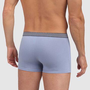 boxer bleu glacier coton stretch ceinture imprimée carré Mix and Print , , DIM