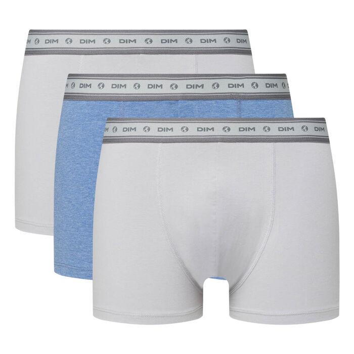 Lot de 3 boxers homme coton stretch bio acier bleu nuit Green by Dim, , DIM