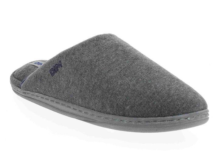 Chaussons type pantoufles gris Homme-DIM