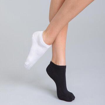 Lot de 2 socquettes courtes noires en coton Femme-DIM