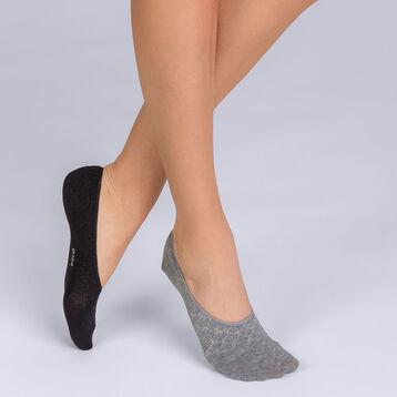 Lot de 2 protège-pieds  Coton Style Ecailles Brillant Femme-DIM