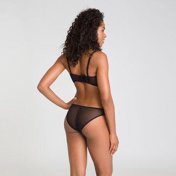 Slip brésilien broderie noire Chic Line-DIM