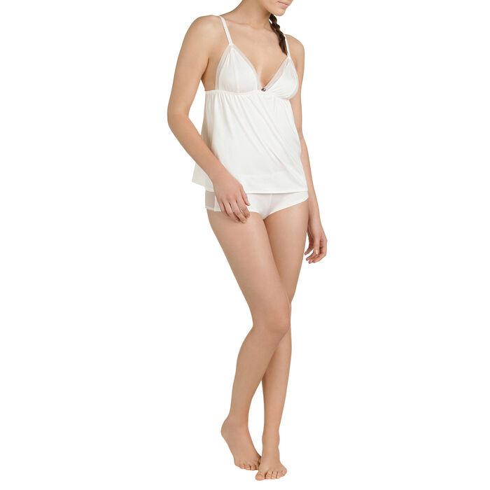 Shorty de pyjama nacre Femme-DIM