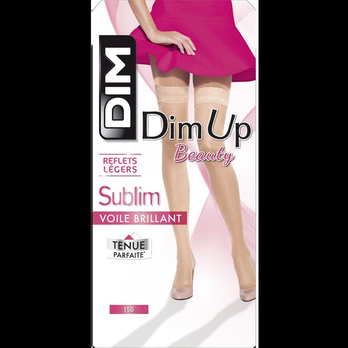 DIM Up Sublim noir voile brillant 15D Jarretière liberté-DIM